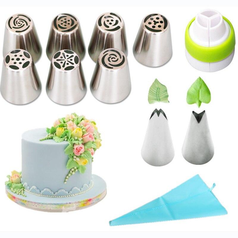 11 sztuk i 22 sztuk ze stali nierdzewnej ciasto zestawy dekoracyjnych końcówek róża krem do pieczenia papierowe foremki do ciasta DIY deser dekorowanie zestaw do pieczenia