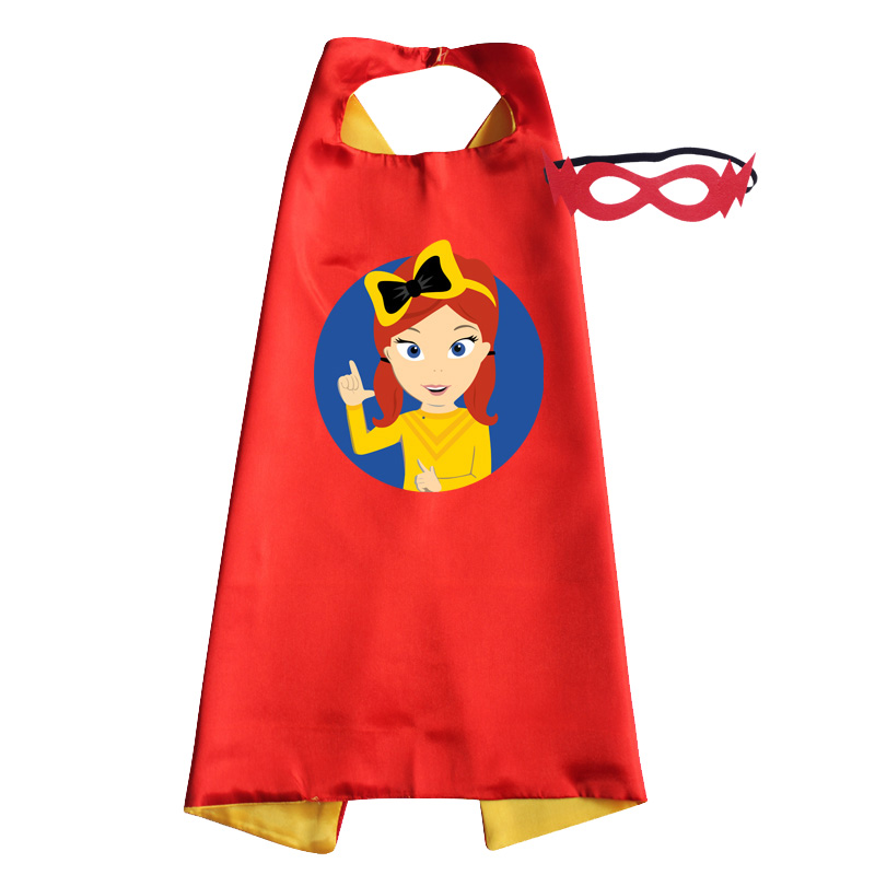 Wiggle Costume Superhero Style Cape With Mask Girls Halloween Emma Cosplay Anime Christmas