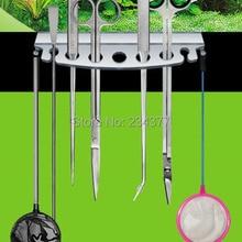 Аквариум акриловый материал обслуживание держатель инструментов кронштейн scissor ножницы удаление водорослей песок Чистка обслуживание
