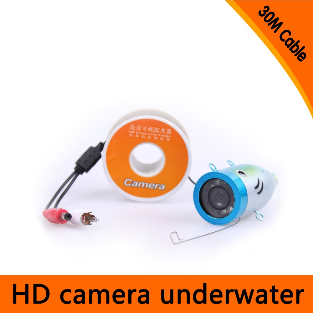 30Meters Depth Underwater Camera with 8PCS white LEDS & Leds Adjustable for Fish Finder & Diving Camera 20meters depth fish like underwater camera with 2pcs 2 walt white leds for fish finder