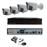 Poe 4CH HD 960P 1 3MP 36 IR Lights Night Outdoor Metal 4CH POE NVR Onvif