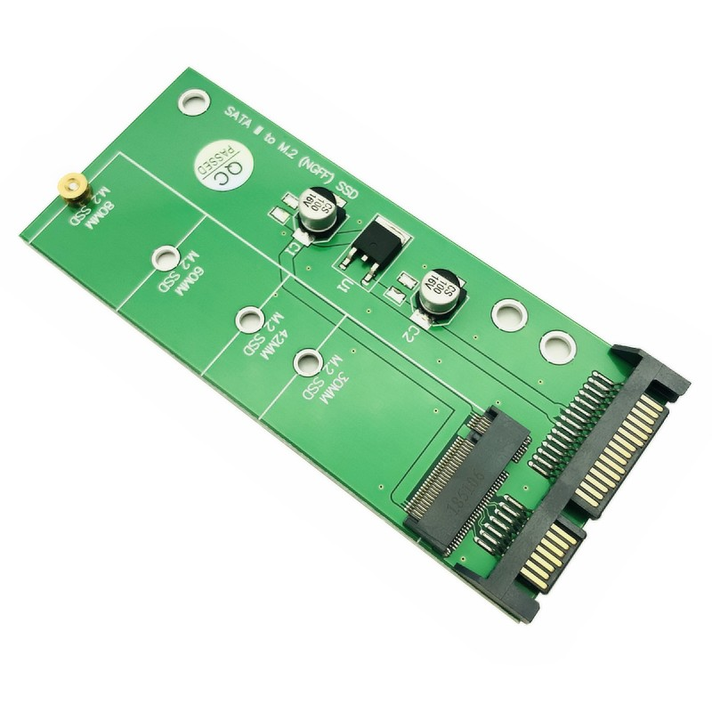 NGFF M.2 To SATA3 Riser Expansion Card SSD Adapter Solid State Converter Switch