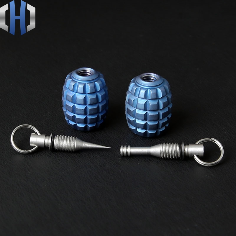 Titanium Mines Knife Beads V Pendants Ear Spoon Fruit Sign Outdoor Travel Portable Toothpick Hang Buckle
