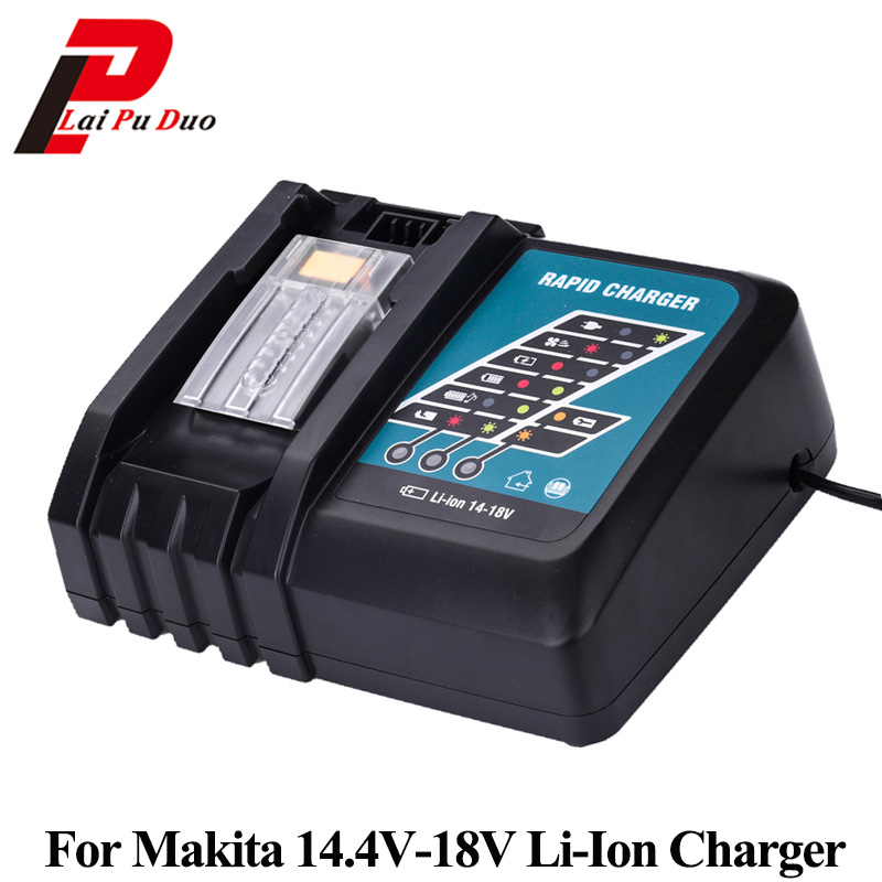 DC18RCT Li-ion Battery Charger 3A 6.5A Charging Current For Makita 14.4V 18V Bl1430 BL1830 DC18RA DC18RC Power tool dawupine dc18rct li ion battery charger 3a 6a charging current for makita 14 4v 18v bl1830 bl1430 dc18rc dc18ra power tool