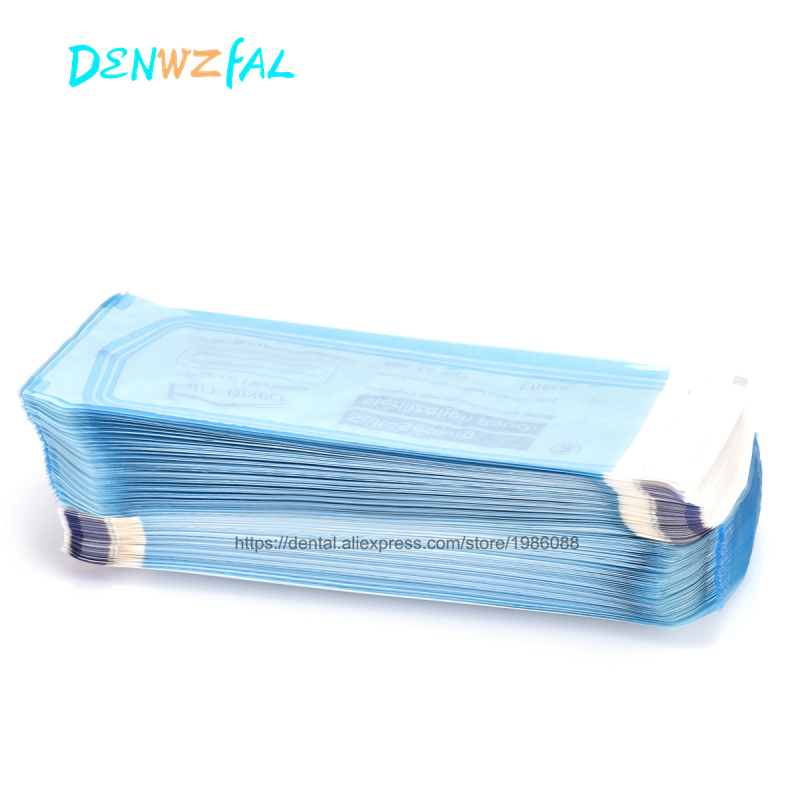 200PCS Self Sealing Sterilization Pouch Medical Grade Paper Disposable Dental Tattoo Tool Storage Bag