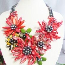 N-5-12-11-30 классическое романтическое Африканское Цветочное Ожерелье