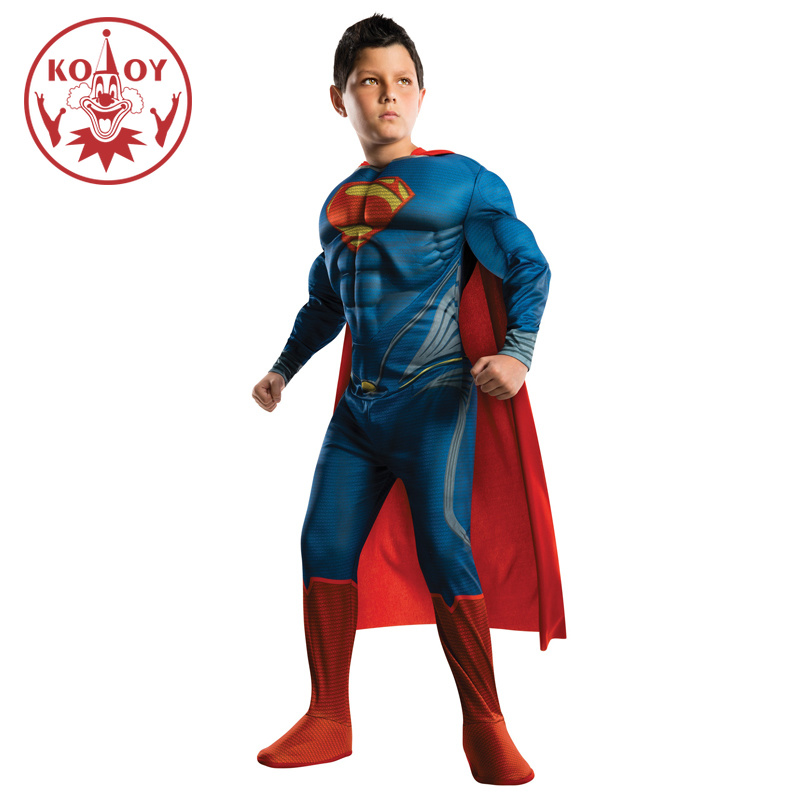 Boys Kids Superman Costumes Halloween Carnival Cosplay Suits Anime Cosplay Clothes Fancy Party dresses Muscle Superhero