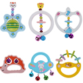 Baby Wooden Toys Cute Animal Handbells Musical Developmental Toy Bed Baby Rattle Kids Toy