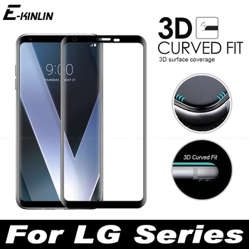 Перейти на Алиэкспресс и купить 3D изогнутый край Полное покрытие Закаленное стекло Защитная пленка для экрана для LG бархат V30 V30S V35 V40 V50 V50S G8X G8 G7 Plus ThinQ 5G