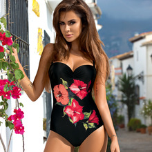 Купить с кэшбэком Women One Piece Swimsuit Sexy Plus Size Swimwear Women Summer Bathing Suit Beachwear Women's Swimming Suit Maillot De Bain