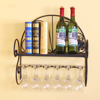 Metal Iron Wall Hanging Wine Holder Glass Goblets Rack Metal Wall Decoration For Your Home