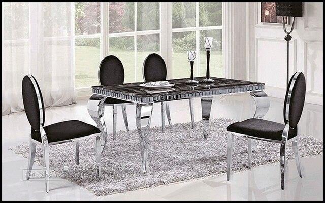 Mesa de comedor con sillas, comedor de mármol europeo combinación de ...