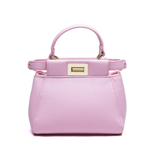 Lovely Ladylike Small font b Handbag b font Women Fashion Elegant PU Crossbody Bag Twist Lock