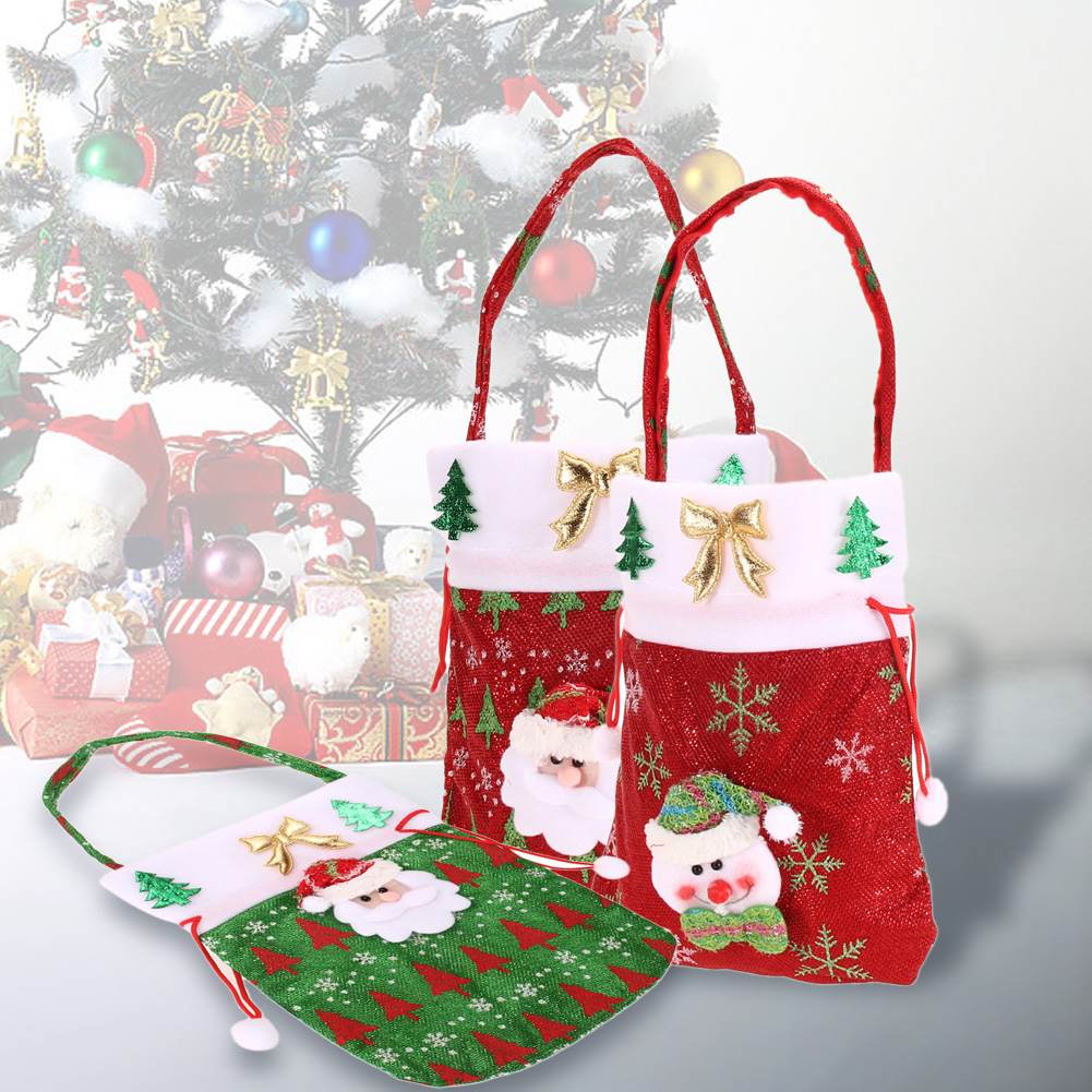 Christmas Gift Bags For Kids.Us 1 54 11 Off Christmas Candy Gift Bags Children Kids Pouch Santa Claus Bags Christmas Gift Bags Merry Christmas Home Party Tree Decoration In