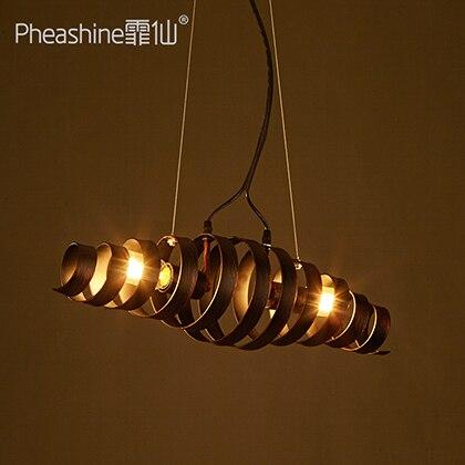 loft industrial Style black Iron rotate pendant light  restaurant bar art Restaurant Bar droplight lamps