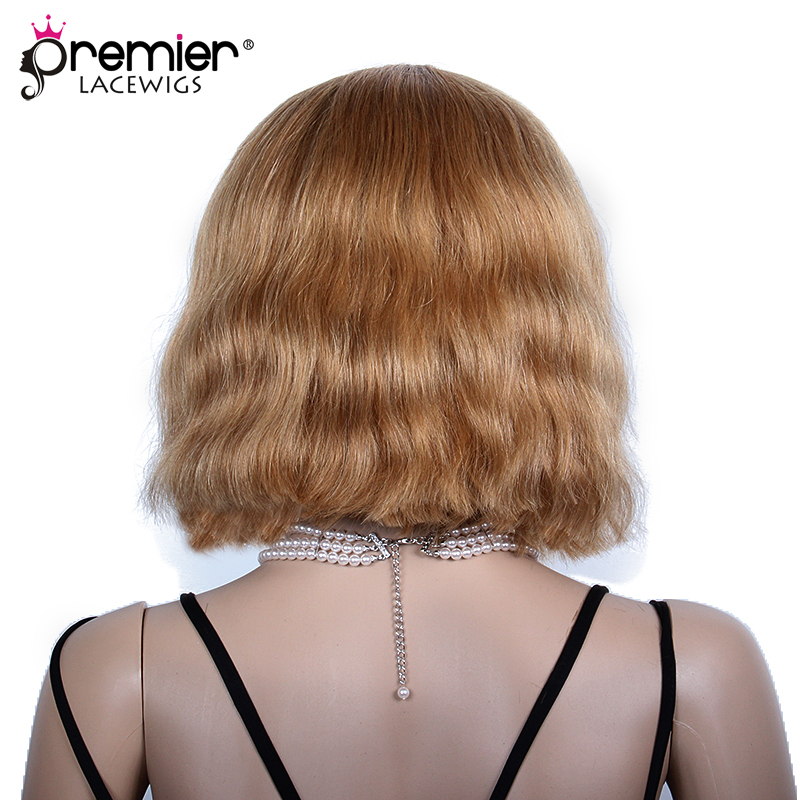 PREMIER LACE WIGS Blonde Human Hair Bob Beyonce Inspired Ombre Bob Lace Front Wigs(CLFW-08)
