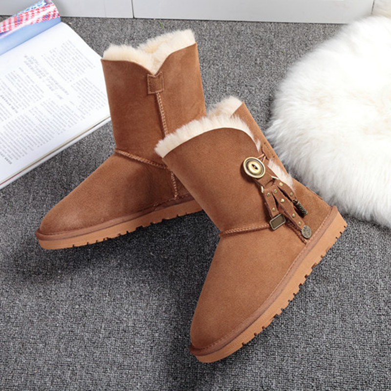 100% high quality snow boots Australian natural fur one female boots wholesale and retail