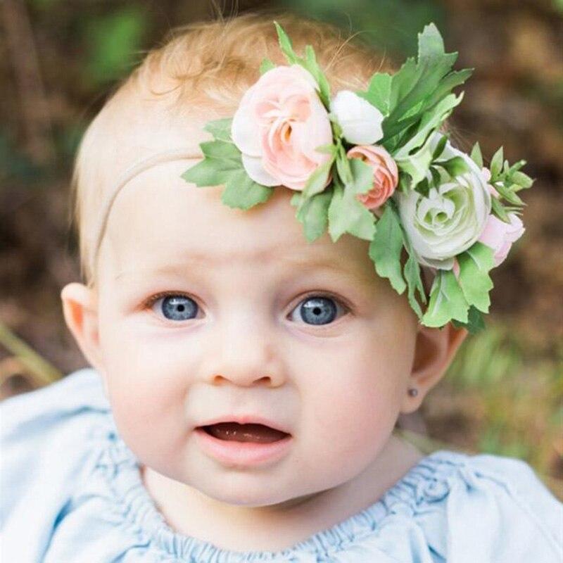 New Baby Hair Bands Flower Headband Newborn Girls Hair Band   Headwear   Handmade DIY Hair Accessories Children Photography props