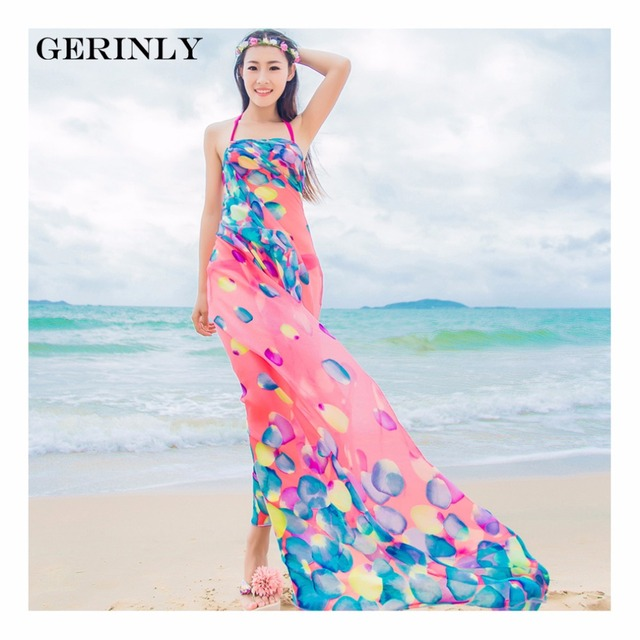 Scarves Pareo Sexy Women's Chiffon Sarongs Summer Bikini Scarf Swimsuit Dress Beach Cover Up Tunic Wraps Ladies Shawls 150*180cm