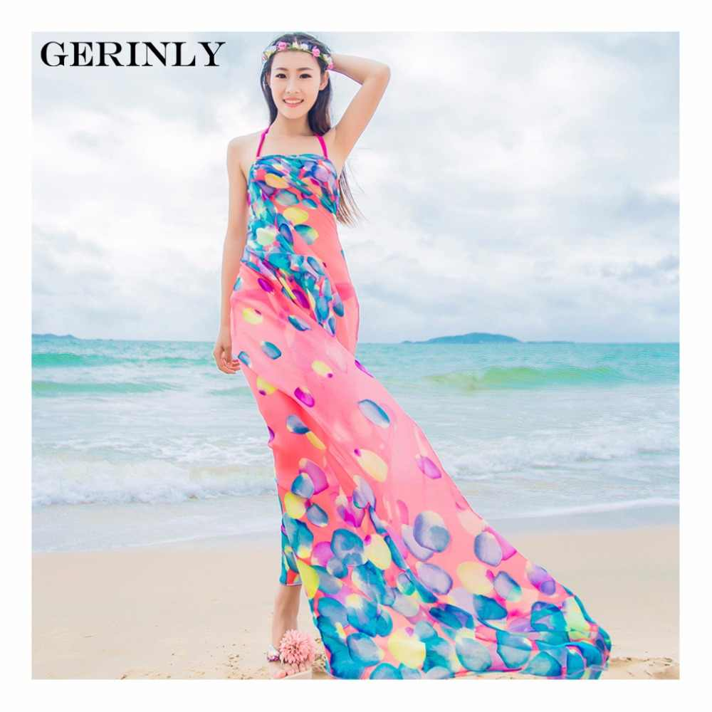 08f7cf6d2d698 Scarves Pareo Sexy Women's Chiffon Sarongs Summer Bikini Scarf Swimsuit  Dress Beach Cover Up Tunic Wraps