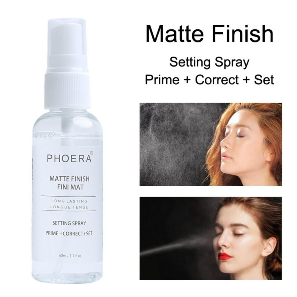 50ML Makeup Setting Spray Matte Finish Bottle Setting Spray Oil-control Natural Long Lasting Make Up Fix Foundation Spray image