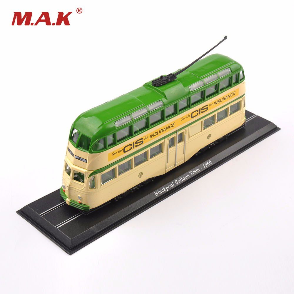 1/76 Scale Diecast Green Bus Truck Car Model Toys New Blackpool Balloon Tram 1960 Kids Toys Gifts Collections