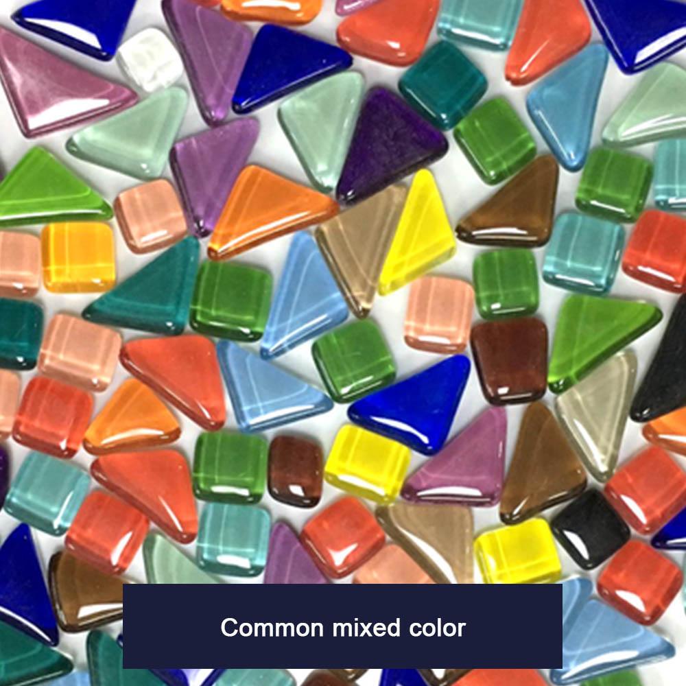 500pcs Mixed Color Square Glass Mosaic Tiles Pieces Tessera For Mosaic Making DIY Craft Art