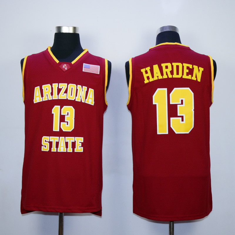8358410c1 ... ncaa jerseys 4e6e3 a67c4  new zealand james harden arizona state jersey  sun devils college basketball jersey stitched yellow red white