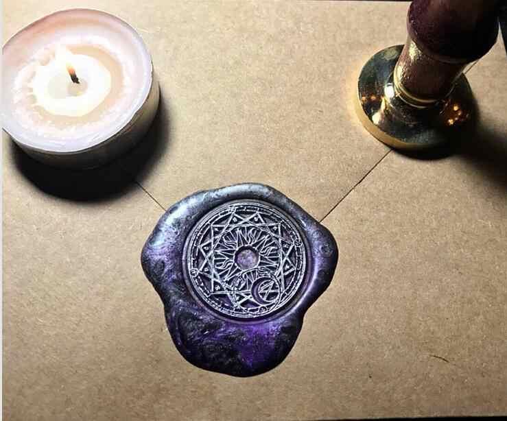 1 шт. звезда Cardcaptor Sakura power Sun and Moon волшебный узор золотой покрытый воском печать штамп воск штамп, винтажный набор палок