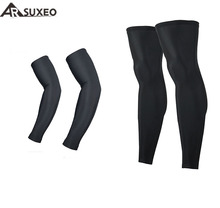 ARSUXEO Cycling Sleeves MTB Bicycle Sleeves Arm warmer +Legwarmers UV Protection Sleeves Running Arm Sleeves Leggings