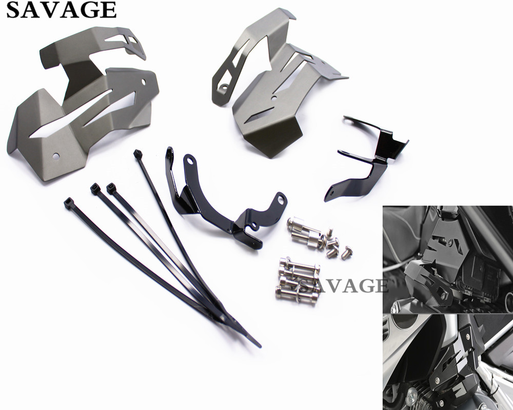 Black Motorcycle Billet Aluminium Injection Cover kit Protector Guards Covers For BMW R1200GS LC 2013-2016 14 15 meziere wp101b sbc billet elec w p
