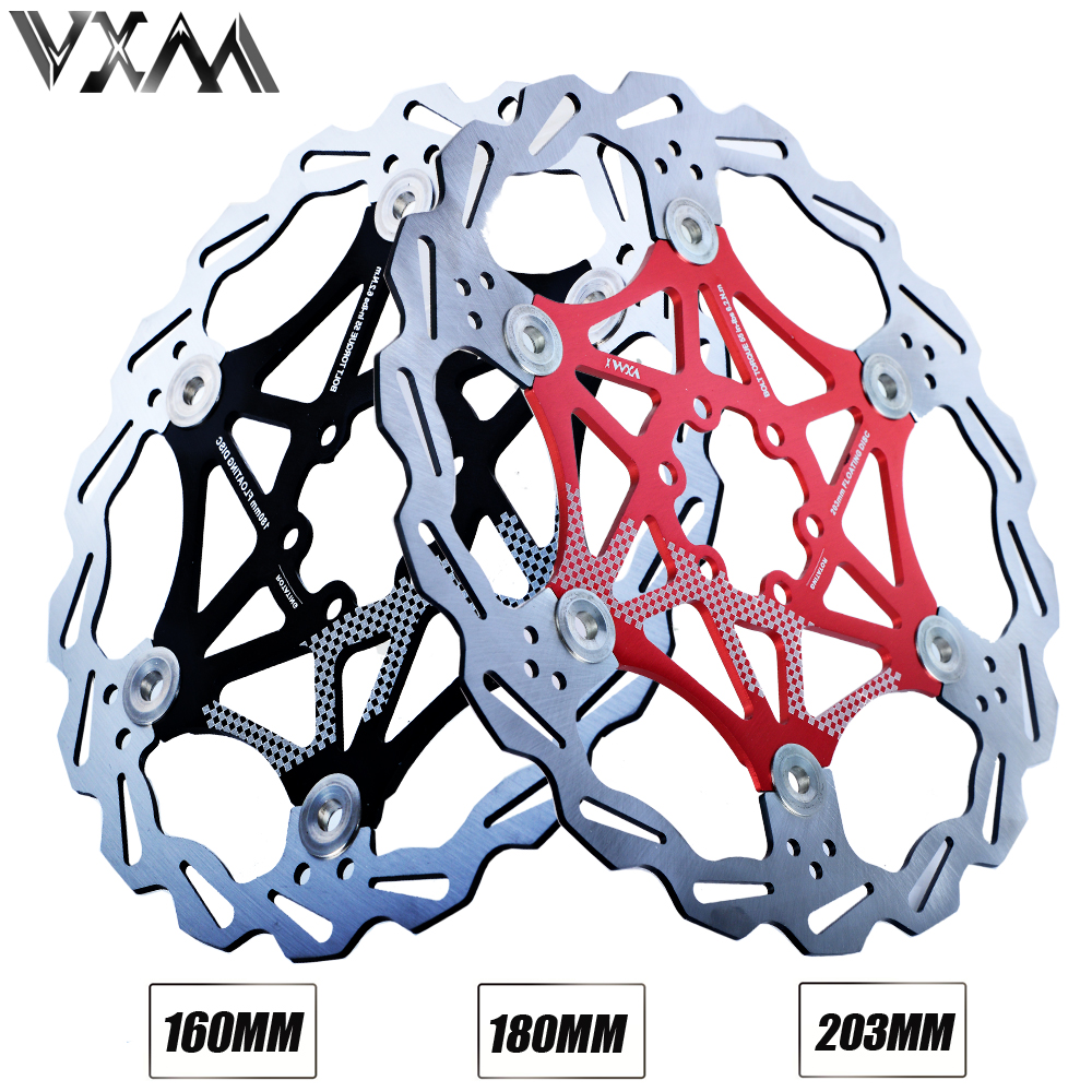 VXM Bicycle Disc Brake MTB DH Brake Float Floating Disc Rotors 160mm/180mm/203mm Hydreaulic brake Pad Float Rotors Bicycle Parts