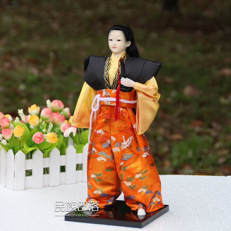 Free shipping Home deocration ornaments Vintage Japanese samurai warrior with Sword Novelty gift Doll