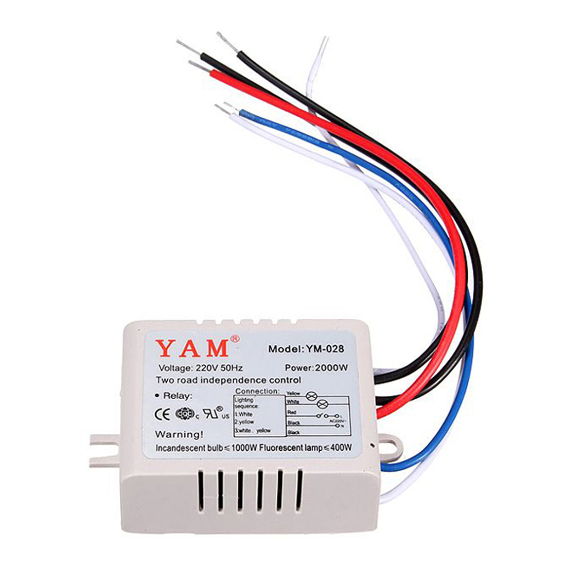 YAM AC 220V Wireless Light Lamp Digital Switch with Remote Control ...