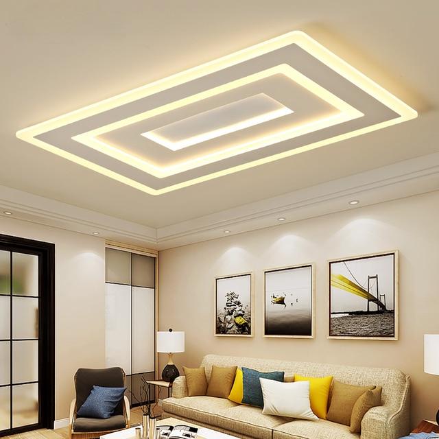Modern Led Ceiling Lights For Living Room Bedroom Acrylic Indoor Lighting AC85-265V Led Square Ceiling Lamp Fixture