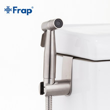 Frap Baru 304 Stainless Steel Handheld Bidet Spray Shower Set Toilet Shattaf Sprayer Douche Kit Bidet Faucet Brushed Y50003(China)