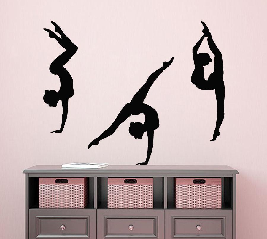 Gymnastics Gym Dance Girl Decal Car Window Door Wall Laptop Auto  Vinyl Sticker