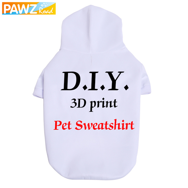 Pet Dog DIY Clothing 3D Print Sweatshirt Custom Hoodie Unique Personalized Design S-6XL Clothing for Large Dogs to Drop Shipping