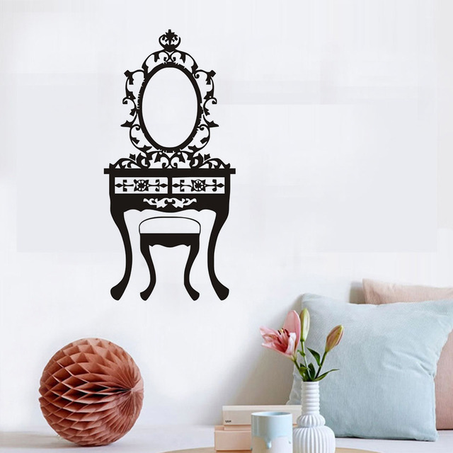 Aliexpresscom Buy Vinyl Wall Sticker Girl Bedroom Mirror Toilet - Vinyl stickers designaliexpresscombuy eyes new design vinyl wall stickers eye wall