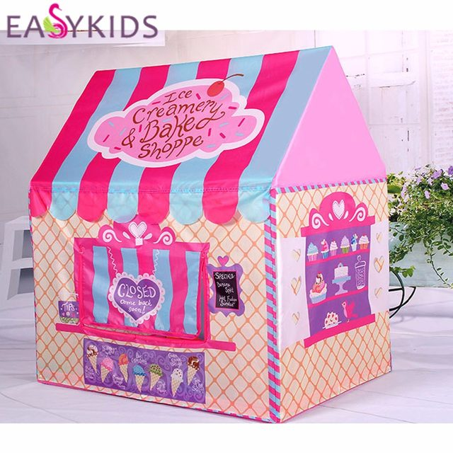 Kids Play Tent Foldable Portable Girl Princess Castle Indoor Outdoor Play Tents Playhouse For Children Best Gifts & Online Shop Kids Play Tent Foldable Portable Girl Princess Castle ...