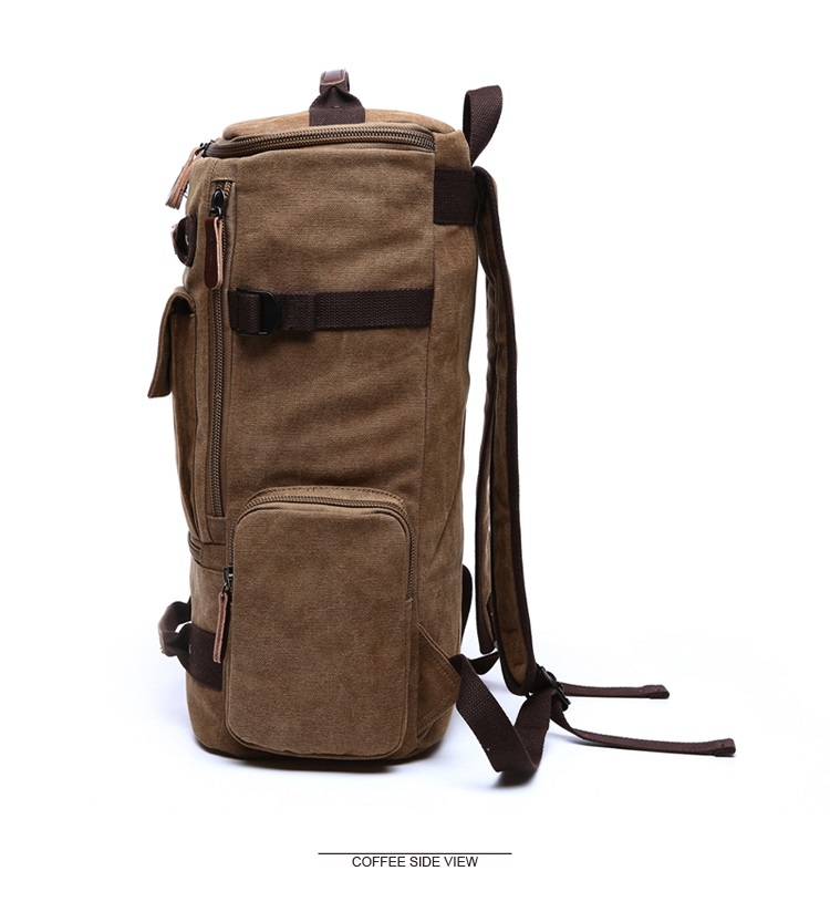 Men Laptop Backpack 15 Inch Rucksack Canvas School Bag Travel Backpacks for Teenage Male Notebook Bagpack Computer Knapsack Bags 9