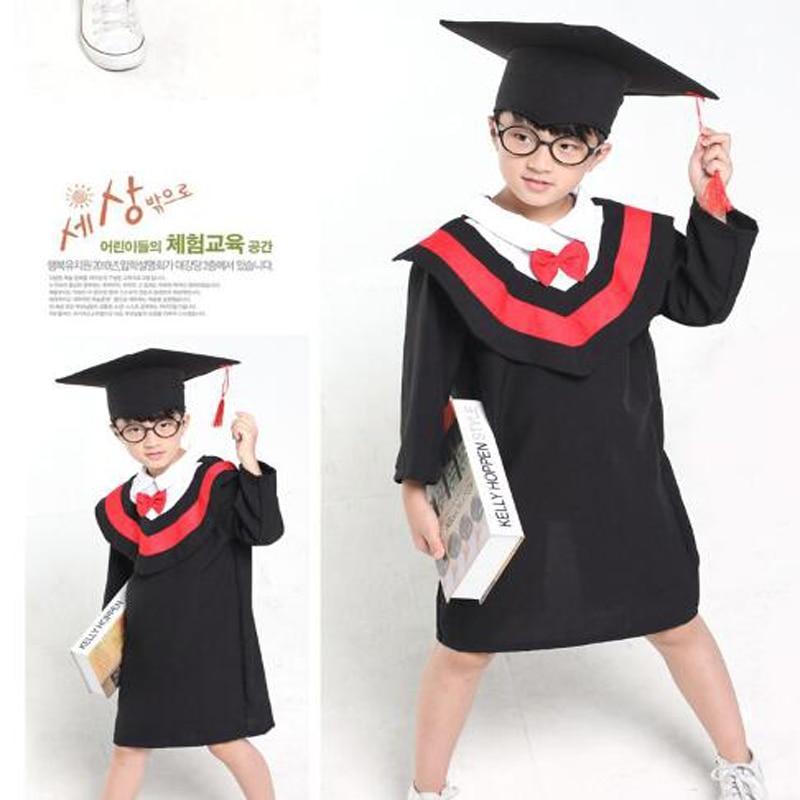 11.11 Children Performance Clothing Academic Dress Gown Kindergarten Dr Cloth Graduated Bachelor Suits Dr cap