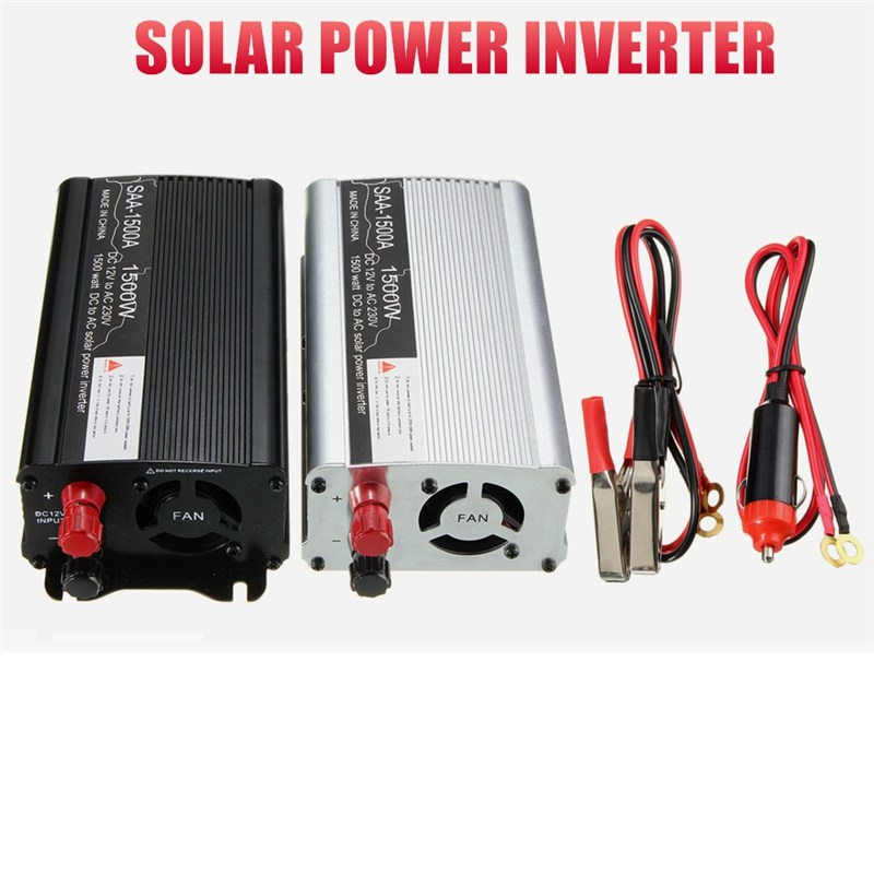 Автомобильный Инвертор 1500 Вт 12 В до 220 В 3000 Вт пик солнечного Трансформатор напряжения тока конвертер Зарядное устройство Дисплей адаптер М...