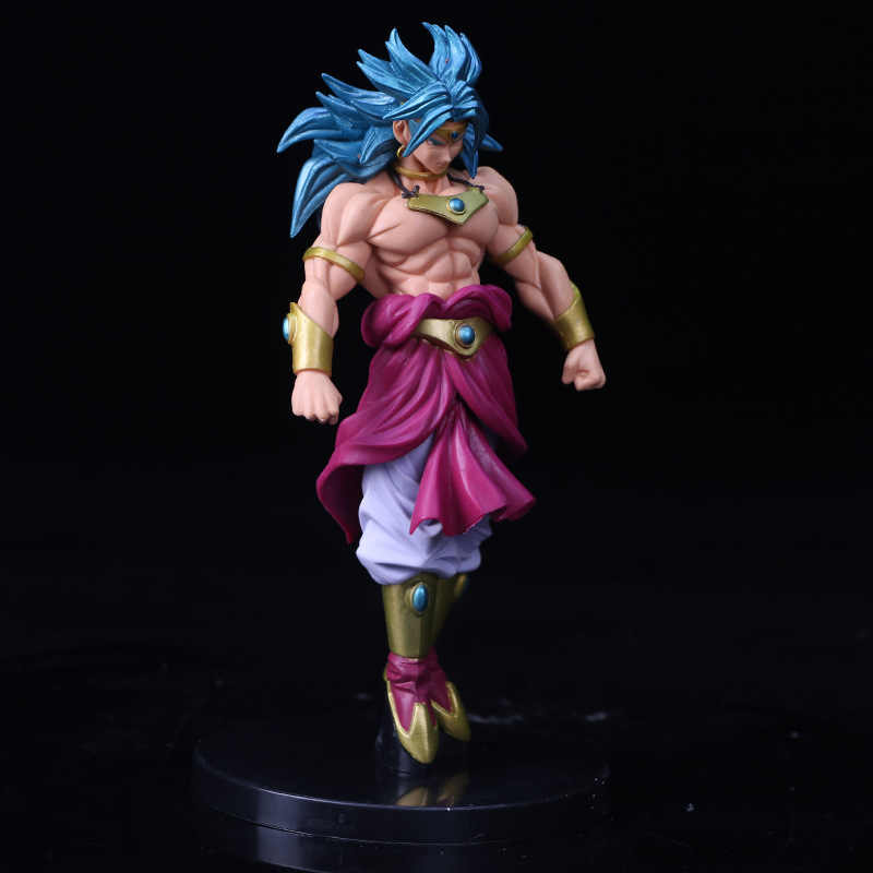 Dragon ball z esculpir grande modelagem budokai tenkaichi 7 broly figura collectible mascote brinquedos 100% original