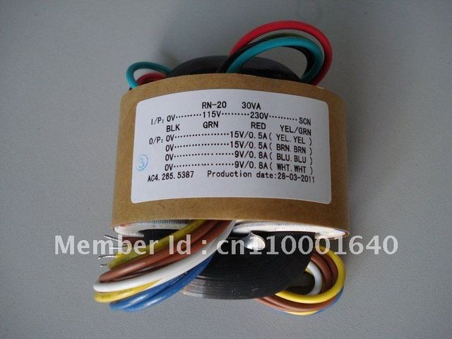 High quality  30W  230V/115v  R Core Transformer for pre-amp 9V+9V 15V+15V   (suitable for DAC,Preamp,Headphone amp)