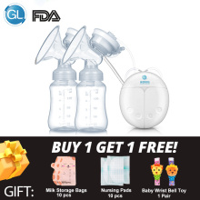 GL Breast-Pump Milk-Extractor Strong-Suction Baby-Feeding Electric Double for FDA Infant