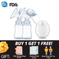 GL Double Electric Breast Pump Milk Pump for Baby Feeding Strong Suction FDA Infant Milk Extractor Breast Enlargement Pumps