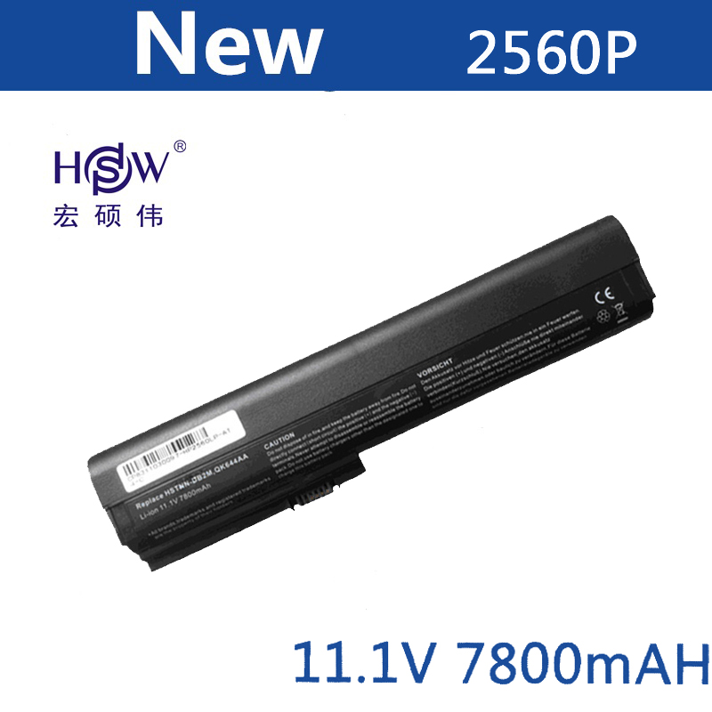 HSW  Laptop Battery for HP SX06XL SX09 for HP EliteBook 2560p batteries 2570p  HSTNN-UB2L battery for laptop  QK644AA batteryHSW  Laptop Battery for HP SX06XL SX09 for HP EliteBook 2560p batteries 2570p  HSTNN-UB2L battery for laptop  QK644AA battery