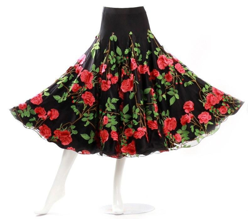 Costume de danse Flamenco jupe longue salle de bal danse moderne Standard valse danseuse robe espagne LXQ915