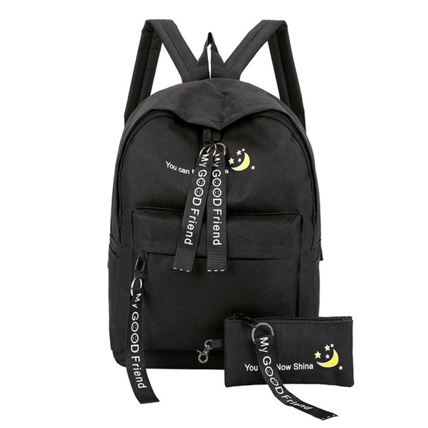 MOLAVE Backpack Girls backpack Solid backpacks female Zipper Womens Fashion Nylon Backpack Laptop Travel bag Clutch Purse Apr4